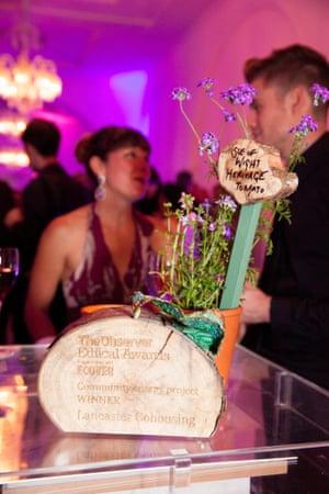 Lancaster Cohousing's trophy, Observer Ethical Awards 2014