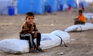 Iraq refugees at Khazir refugee camp