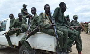 South Sudan Democratic Army (SSDA) Cobra faction soldiers. The young country saw the biggest decline in peace of any nation this year.