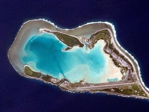 Atoll of Wake Island in the central Pacific Ocean.