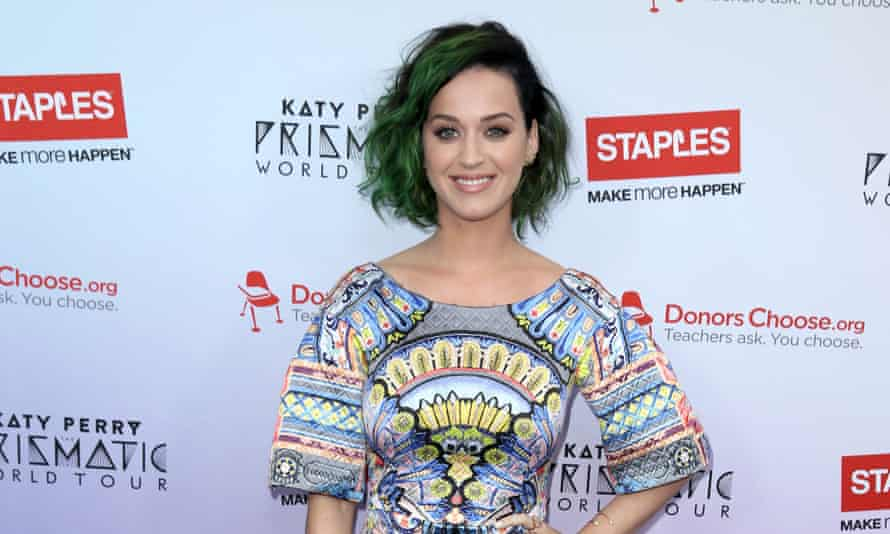 Katy Perry poses for a photo at the Staples June 12th, 2014 at the NOKIA Theatre in Los Angeles.