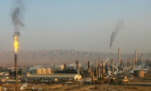 A general view of Baiji oil refinery, north of Baghdad in 2009. Sunni militants attacked Iraq's largest oil refinery, located in Baiji in northern Iraq, with machine-gun fire and mortars.