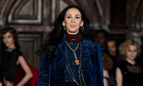 Designer L'Wren Scott following her Fall/Winter 2012 collection during New York Fashion Week