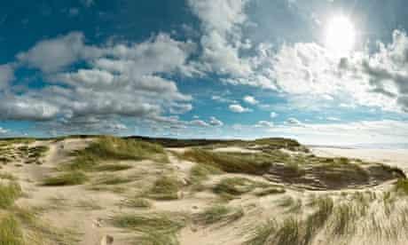 Sand dunes with ridges on the North Sea coast