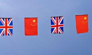 China-UK flag