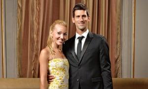 Novak Djokovic and Jelena Ristic 2013