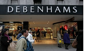Debenhams store offers its cards in store