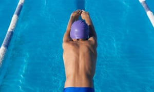 According to the latest release by Sport England, more than 2.9m people are swimming regularly. Photograph: Alamy
