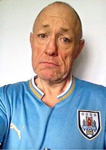 David Grey in his Uruguay shirt