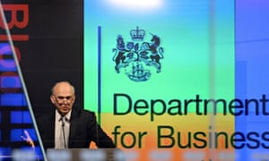 Vince Cable speaks to bankers in the City of London.