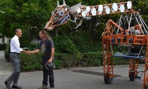 barack obama maker faire robotic giraffe