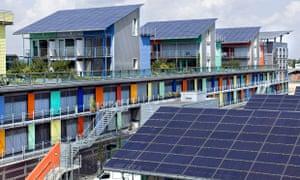 Solar village in Freiburg; Germany
