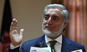 Afghan presidential candidate Abdullah Abdullah, who has accused the election commission of involvem