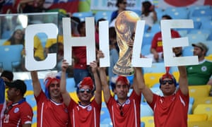 Chilean supporters in the Maracana.