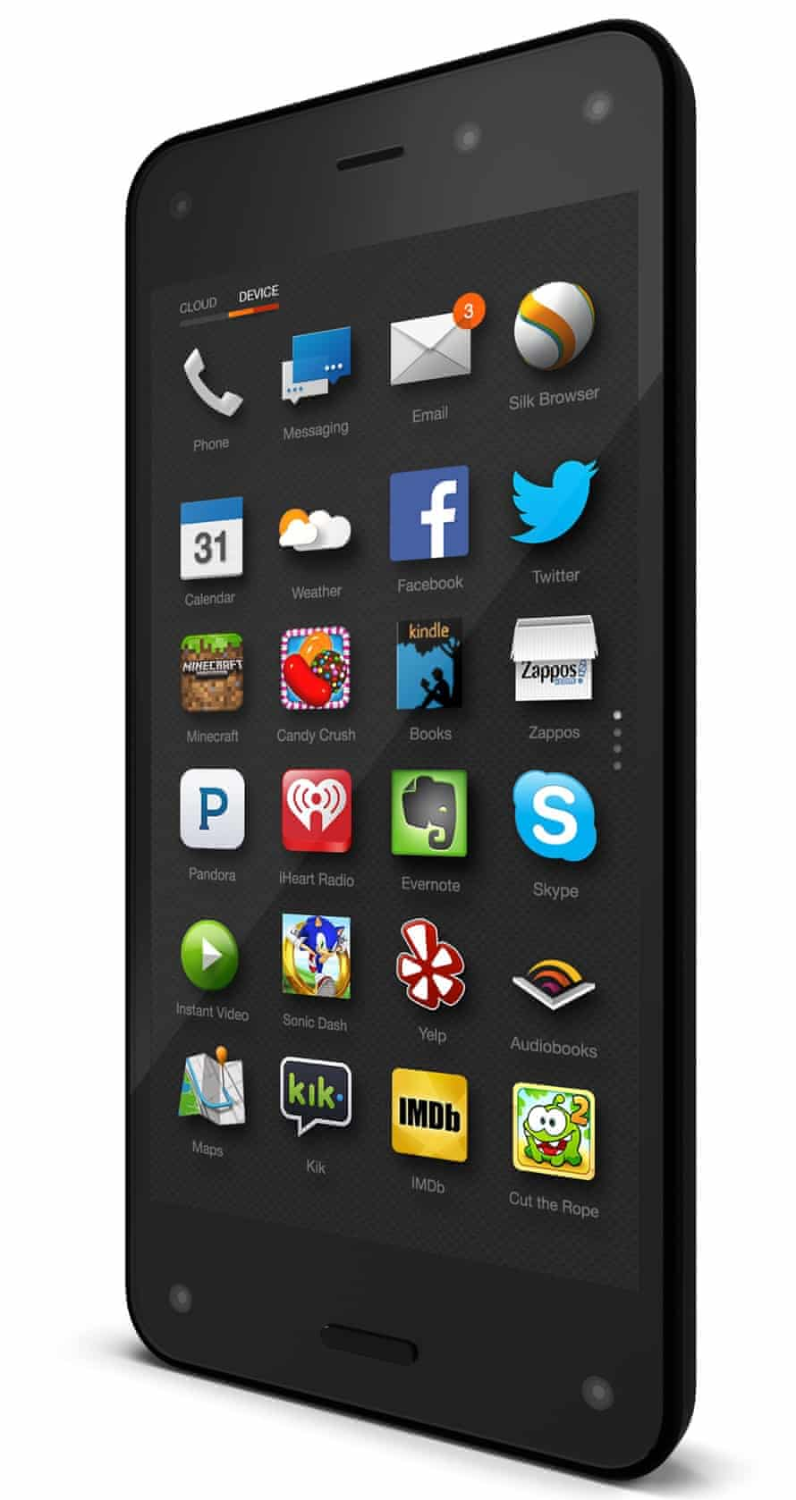 A handout image of the new Amazon Fire phone.
