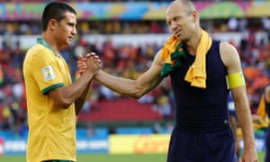 Tim Cahill and Arjen Robben