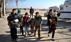 Syrian refugees in Sanliurfa.