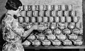 Woman with early Wedgewood pots