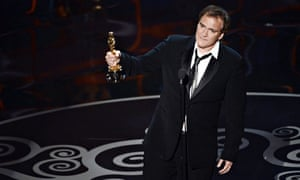 Quentin Tarantino accepts an Oscar for best original screenplay 2013