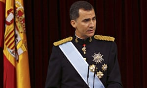 King Felipe VI delivers his speech