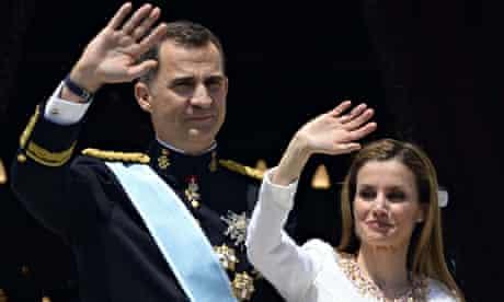 Spain's King Felipe VI and Spain's Queen