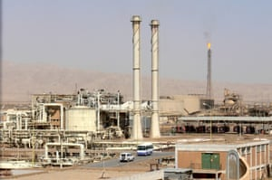 A file picture dated 11 March 2009 shows the oil refinery in Baiji, Iraq.