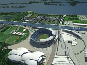 An artist's impression of the proposed Olympic Stadium for Toronto's 2008 bid.