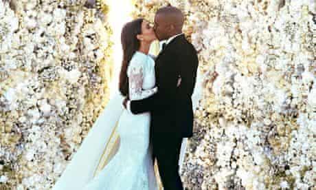 Kim and Kanye's wedding photograph