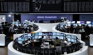 Tthe Frankfurt stock exchange today.