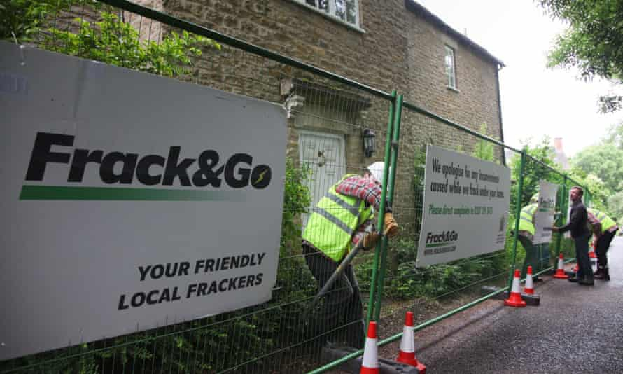 """David Cameron's home in Dean, Oxfordshire, being turned into a """"fracking site"""" as environmental campaigners staged a protest over new laws which could pave the way for more underground drilling."""