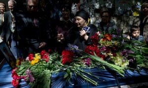 The funeral of Dmitriy Nikityuk, a pro-Russian activist killed in Odessa.