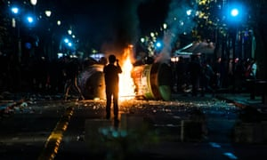 The party in Santiago ended in clashes with police and reported looting.