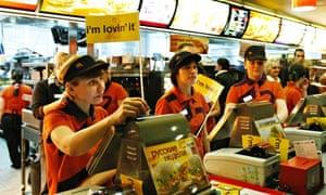 McDonald's fast food restaurant on Pushkinskaya street in Moscow