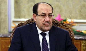 FILE - In this Thursday, Dec. 5, 2013 file photo, Iraqi Prime Minister Nouri al-Maliki meets with Iran's former President Akbar Hashemi Rafsanjani in Tehran, Iran.