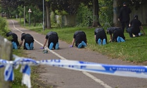 Police search trail in Colchester where Essex University student Nahid Almanea was stabbed to death