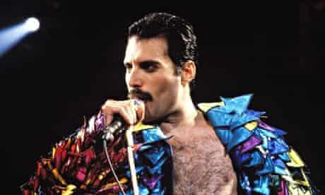 Freddie Mercury on tour in 1982