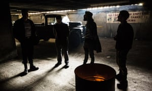 The start of the performance of Shakespeare's Macbeth at Balfron Tower.