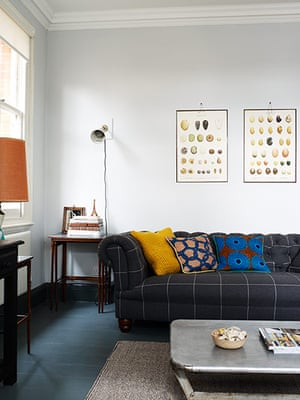Homes - Keep it Simple: interior of home with grey sofa