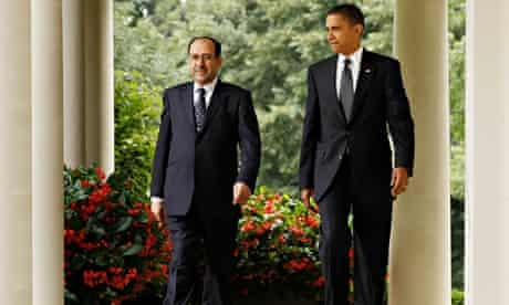 Iraqi prime minister Nouri al-Maliki (left) and US president Barack Obama