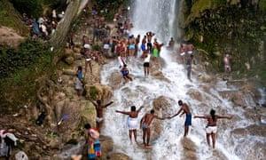Voodoo and Catholic pilgrims Haiti