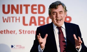 Gordon Brown addresses activists in Glasgow in March.