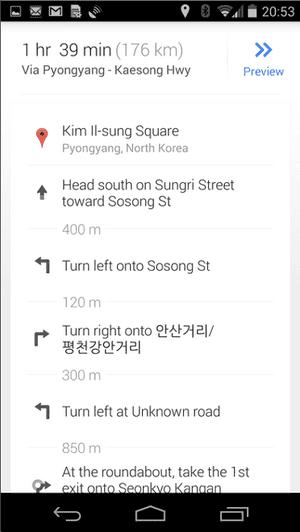 google maps uk driving instructions
