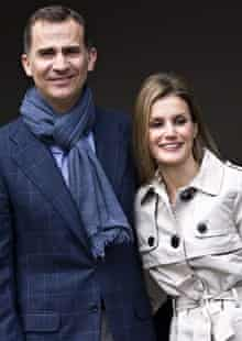 Prince Felipe and his wife