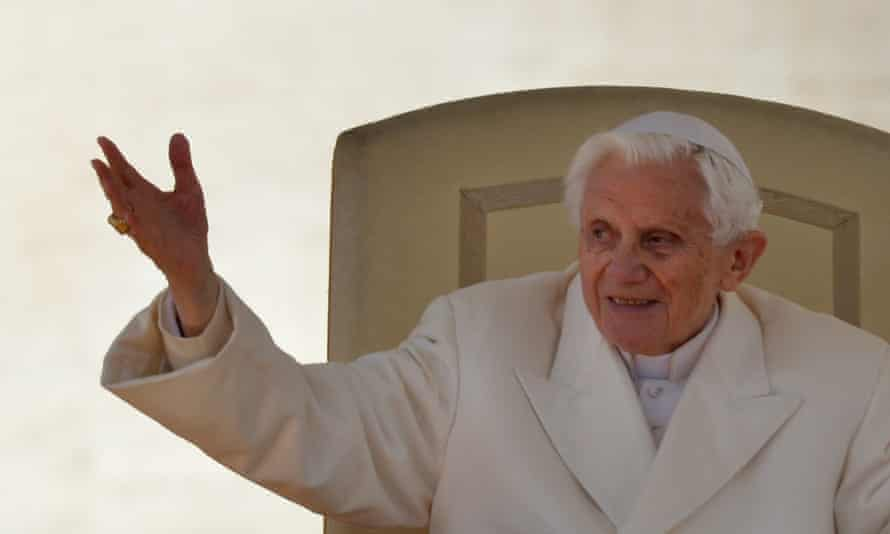 Pope Benedict XVI the day before he announced his resignation