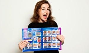 Hadley Freeman with her World Cup sticker album