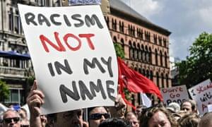 Anti-racism rally held in Belfast