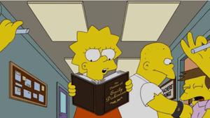 Lisa Simpson reading Emily Dickinson