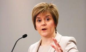 "Nicola Sturgeon said the Tory proposals were ""no more than pre-referendum posturing""."