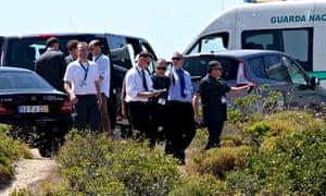 Portuguese and British police search scrubland for  Madeleine McCann