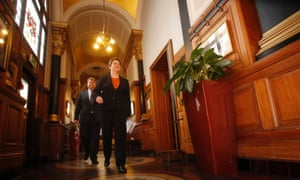Scottish Conservative leader Ruth Davidson and  Lord Strathclyde arrive for the publication of the Conservative devolution commission report at the Clydeport Building in Glasgow.